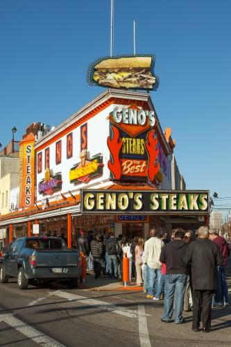 Geno's Steaks in South Philly © Tashka | Dreamstime.com