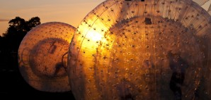 Zorbing in New Zealand-Zorbing Ball-3quarks-Dreamstime