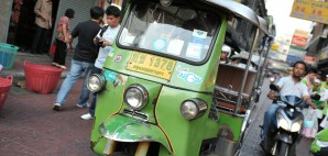 A Tuk Tuk in Bangkok's Chinatown