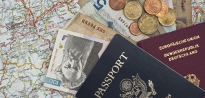 Passport Money Map © Heymo | Dreamstime