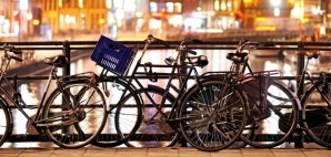 Bikes on an Amsterdam Canal, Netherlands © Ying Feng Johansson | Dreamstime 24133789
