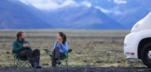 RV couple iceland coffee nature mountains © Martinmark | Dreamstime 48552725
