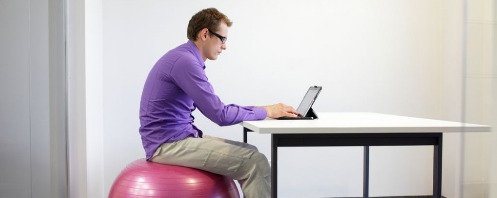 Business Man Fitness Stability Ball Desk Sitting Posture © Endostock | Dreamstime 32789269