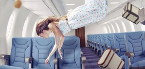 Girl on Airplane Floating © Victor Zastol`skiy | Dreamstime 45252254