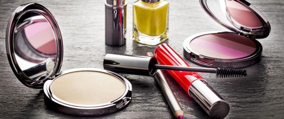Make-Up Cosmetics Lipstick Powder Polish Eyeliner © Lucafabbian | Dreamstime 40439589
