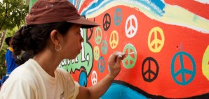 Peace Mural in Quezon City, Philippines © Hrlumanog | Dreamstime 31355919