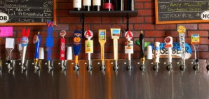 Row of beers on tap © Mike2focus | Dreamstime 21513373