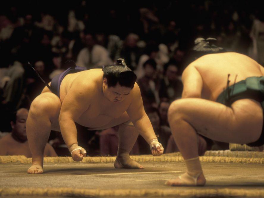 Wrestlers in the Sumo Arena, Tokyo, Japan © Presse750 | Dreamstime 46712360