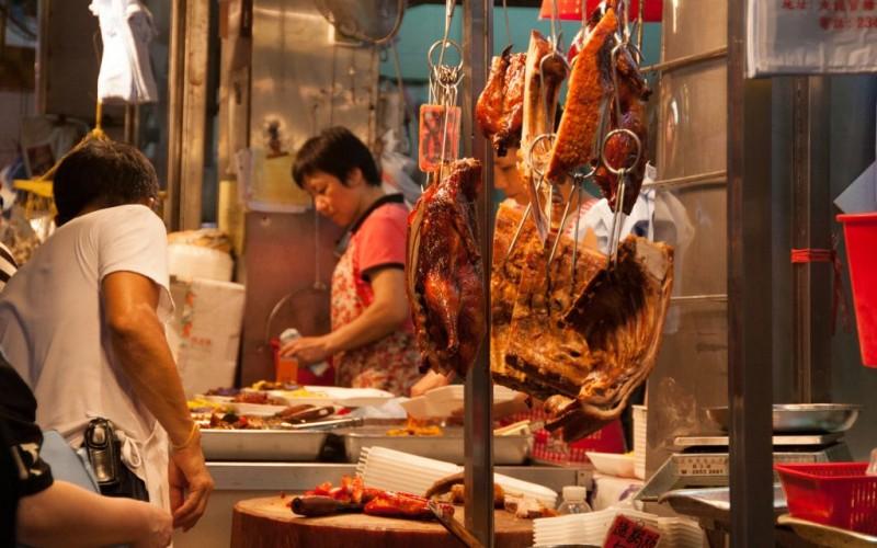 Cantonese Meat Shop in Hong Kong © Ken P.s. Wong   Dreamstime 41804251