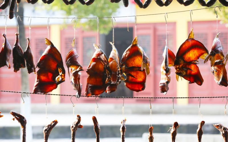 Drying Fish for the annual Spring Festival in Shaoxing City of Zhejiang, China © Qin0377 | Dreamstime 34488354