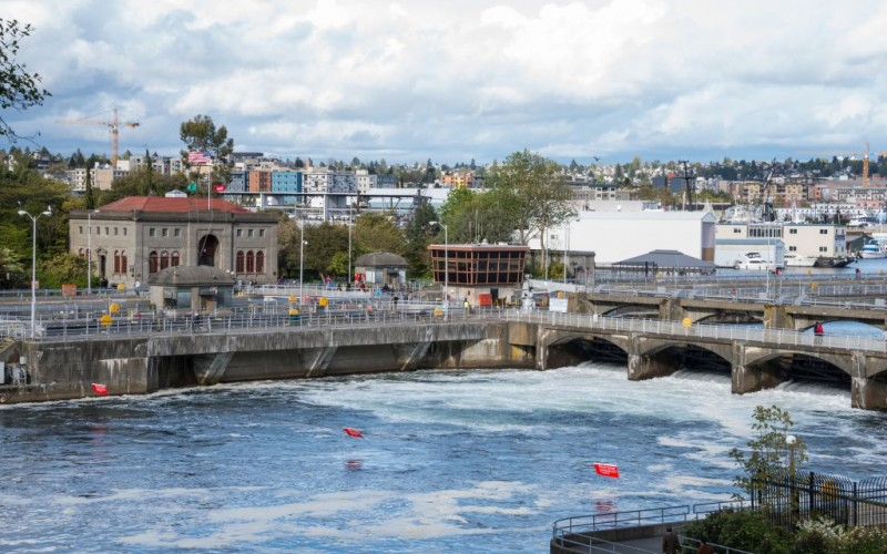 Hiram M. Chittenden Locks, Seattle Washington © Denise P. Lett | Dreamstime 40213836