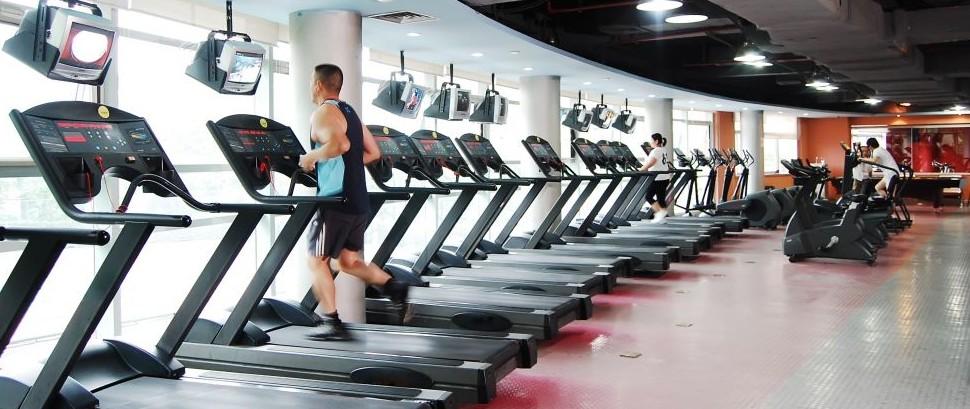 Modern Fitness Gym Equipment Machines Treadmills Jin'An District, Shanghai, China © Springdt313 | Dreamstime 24874486
