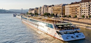 River Cruise Ship docked on the Danube in Budapest, Hungary © Milan Surkala | Dreamstime 51385048