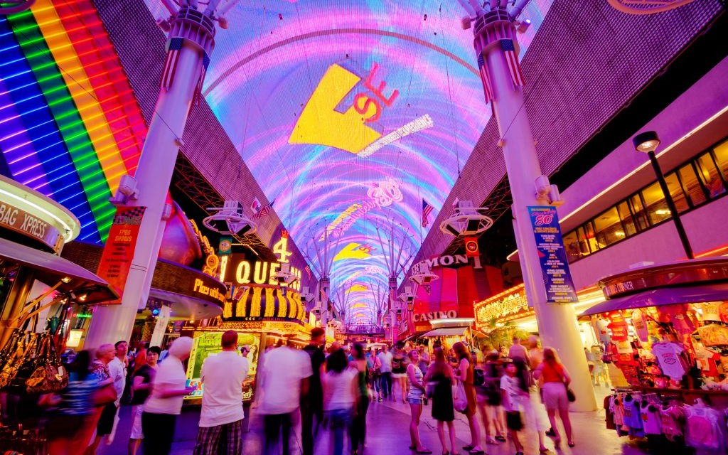 The Fremont Street Experience, Downtown Las Vegas, Nevada © Kan1234   Dreamstime 36926399