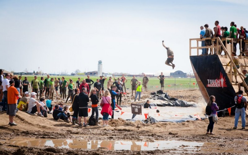 Walk The Plank at Tough Mudder in Mansfield, Ohio © Aviahuisman   Dreamstime 30715735