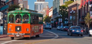 An Old Town Trolley in the Gaslamp District, San Diego, California © Susanne Neal | Dreamstime 18232083