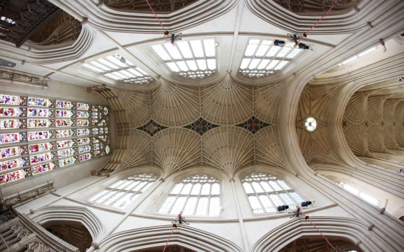 The 17th Century Fan Vaulted Ceiling of Bath Abbey in Somerset, England © Konstantin32 | Dreamstime 34411846