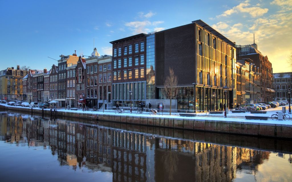 The Anne Frank House and Holocaust Museum in Amsterdam, Netherlands © Dennisvdwater | Dreamstime 30557445