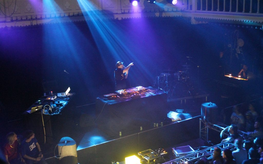 DJ Shadow performing in Amsterdam's Paradiso Nightclub, The Netherland's © Chris Giroux | Dreamstime 50141553