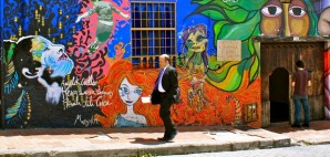 Street art in La Historica Candelaria, Bogota, Colombia © Uli Danner   Dreamstime 21042247