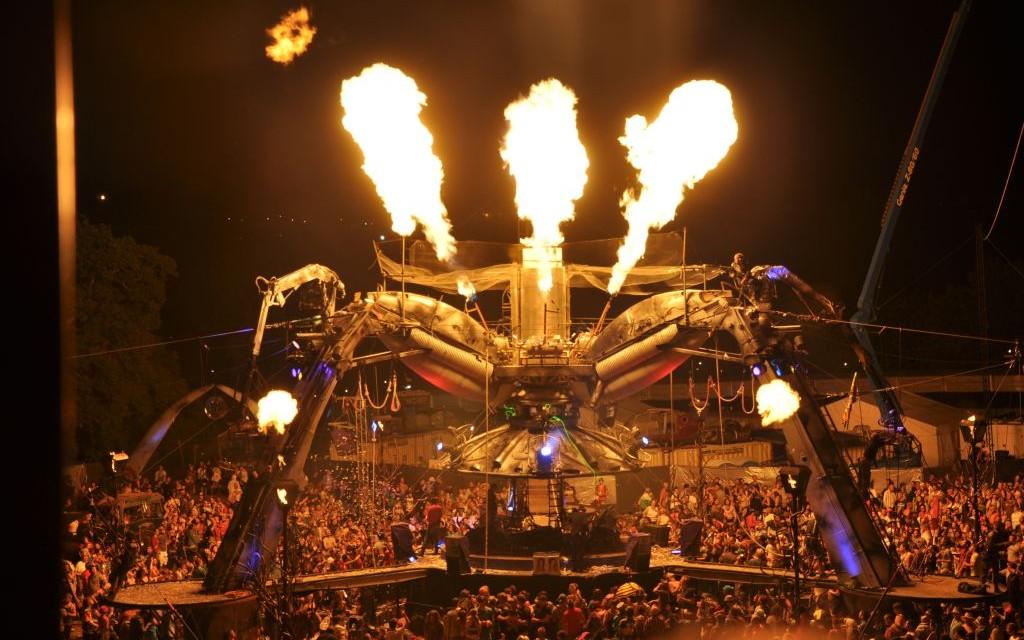 The Arcadia Stage at Glastonbury Festival © Howsat   Dreamstime 21863627