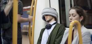 Travel Neck Pillow Sleep Head Rest © Ostrich Pillow Light | Studio Banana Things crop