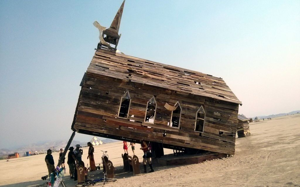 Church Trap at Burning Man 2013, Black Rock City, Nevada © Gwen Schroeder | Flickr