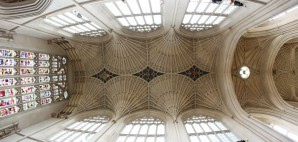 The 17th Century Fan Vaulted Ceiling of Bath Abbey in Somerset, England © Konstantin32   Dreamstime 34411846