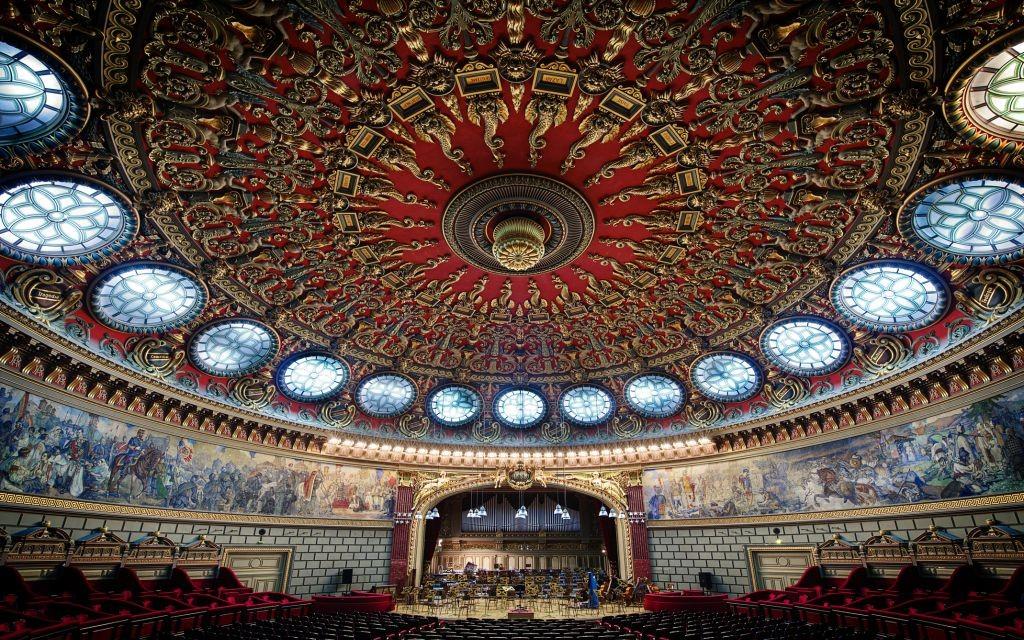 Romanian Athenaeum, Bucharest, Romania © Mbsstudio222   Dreamstime 50752625