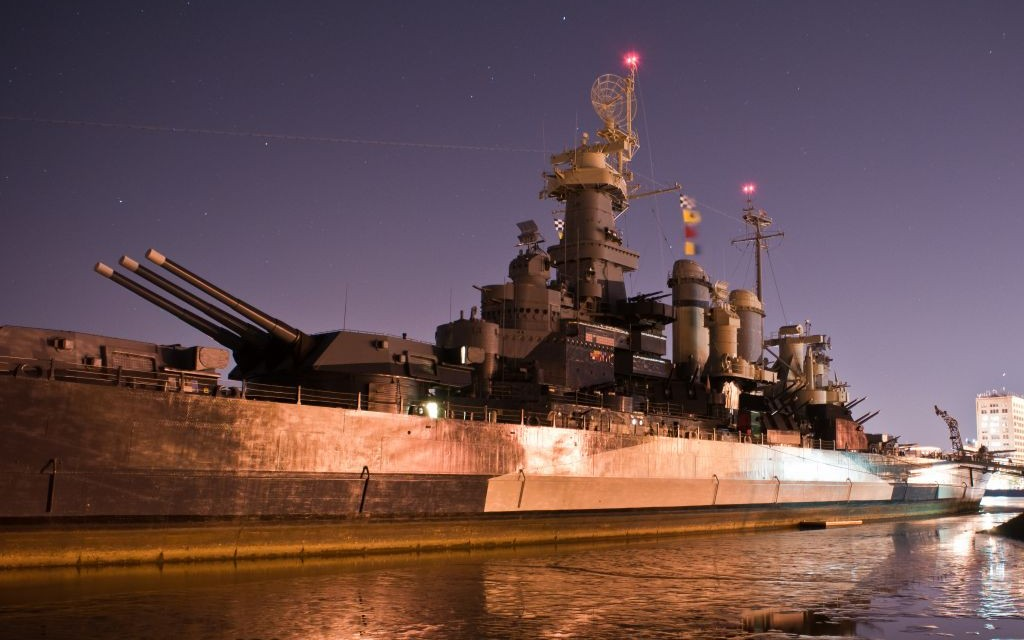 USS North Carolina of in Wilmington © Alex Grichenko | Dreamstime 26920489