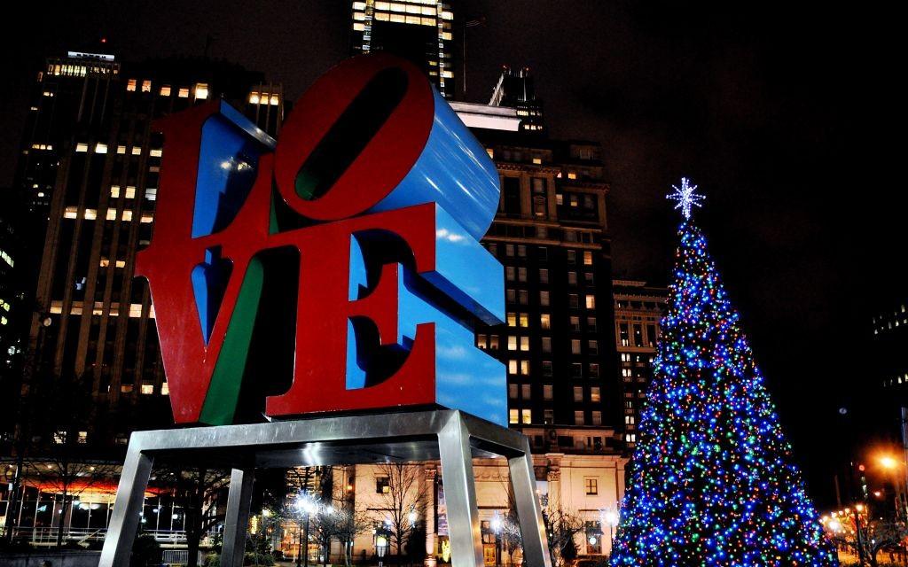 Christmas Village, Love Park, Philadelphia, Pennsylvania © Kevin Burkett | Flickr