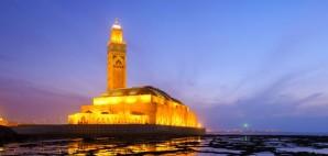 Hassan II Mosque, Casablanca, Morocco © Yakthai | Dreamstime 48013875
