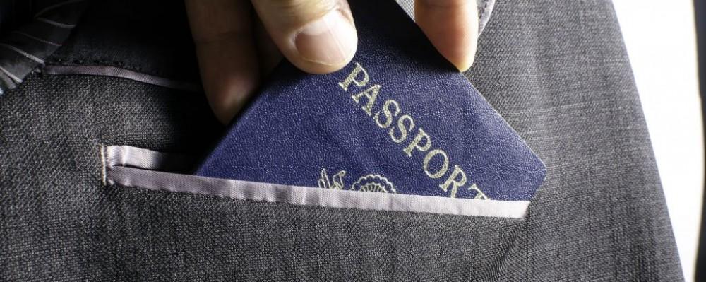 Passport Suit Jacket © Victor Bouchard   Dreamstime 38648075