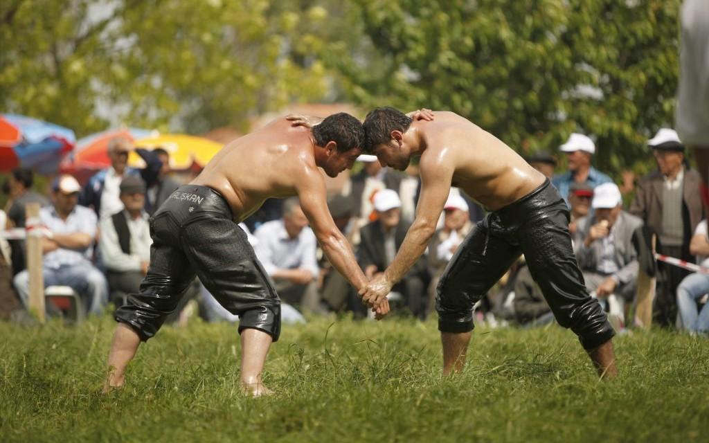 Kirkpinar Oil Wrestling in Turkey © Petitfrere | Dreamstime 24818610