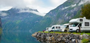 RV Camping by Geirangerfjord, Norway © Dmitry Naumov | Dreamstime 21322269