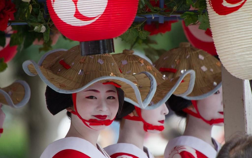 The Parade of Hanagasa, Gion Matsuri, Kyoto, Japan © Dtkql2009 | Dreamstime