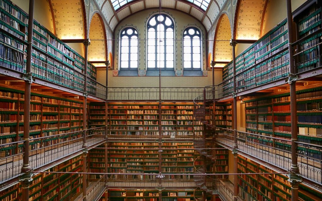 The Rijksmuseum Research Library of Amsterdam, Netherlands © Omar Dakhane | Dreamstime 44282947