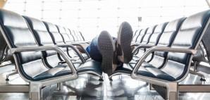 Airport Sleep © Mikhail Starodubov   Dreamstime 55001444