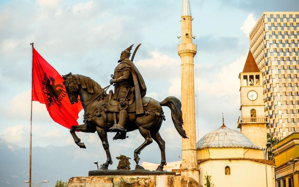 Skanderbeg Square, Tirana, Albania © Rosshelen | Dreamstime 53332291