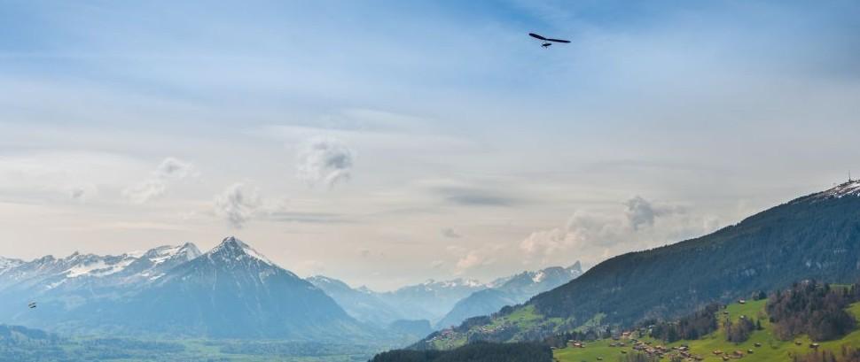 Hang Gliding Over Interlaken, Switzerland © Maryna Patzen | Dreamstime 80317318