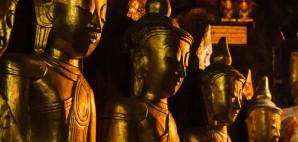 Golden Buddha Statues of Pindya, Myanmar © Dmytro Gilitukha   Dreamstime 75497710