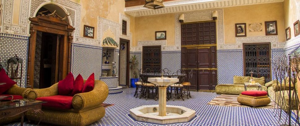 Riad in Marrakech, Morocco © Boggy | Dreamstime 47386446