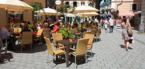Cafe in Salzburg, Germany © Sang Lei | Dreamstime 30178181