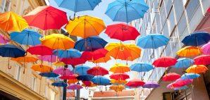 Colorful Umbrellas in Belgrade, Serbia © Evgeniy Fesenko | Dreamstime 34909562