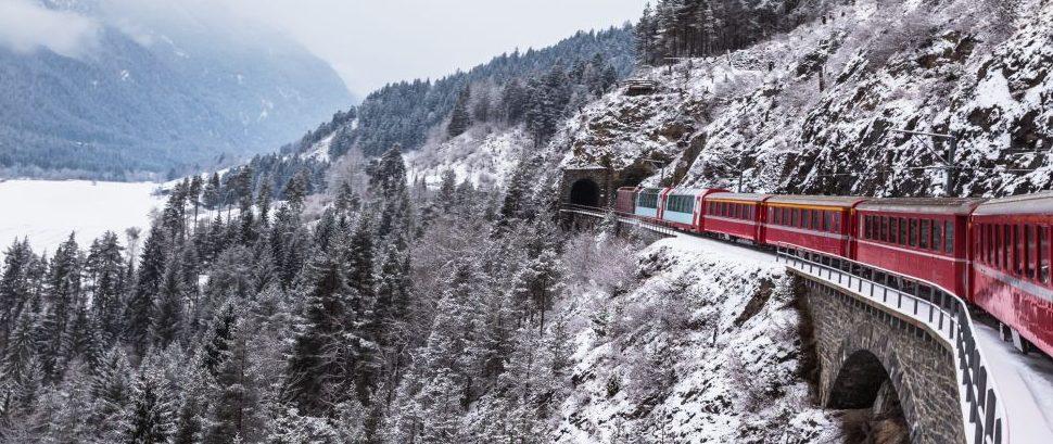 The Glacier Express, Switzerland © Vogelsp | Dreamstime 50637261