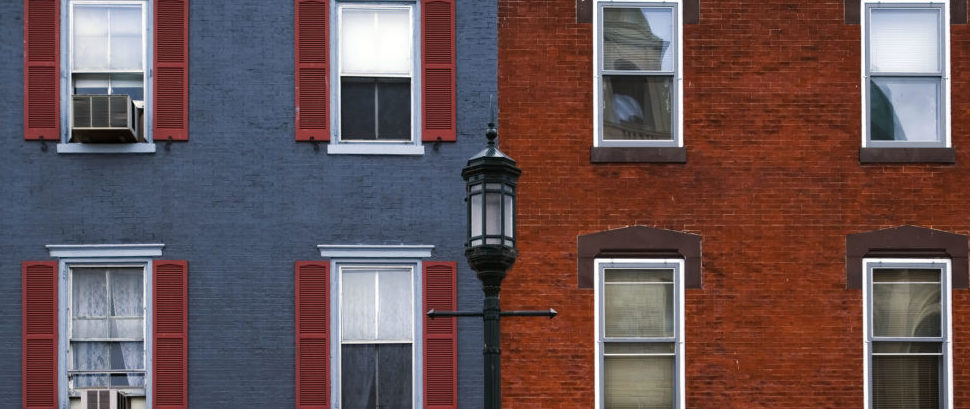 Colonial Houses of Philadelphia, Pennsylvania © Natalia Bratslavsky | Dreamstime 1873617