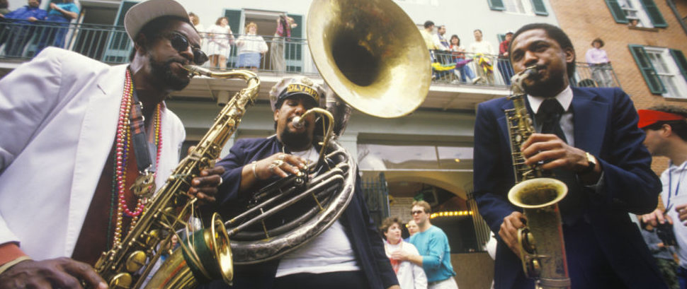 Jazz band in New Orleans' French Quarter, Louisiana © Americanspirit | Dreamstime 52264422