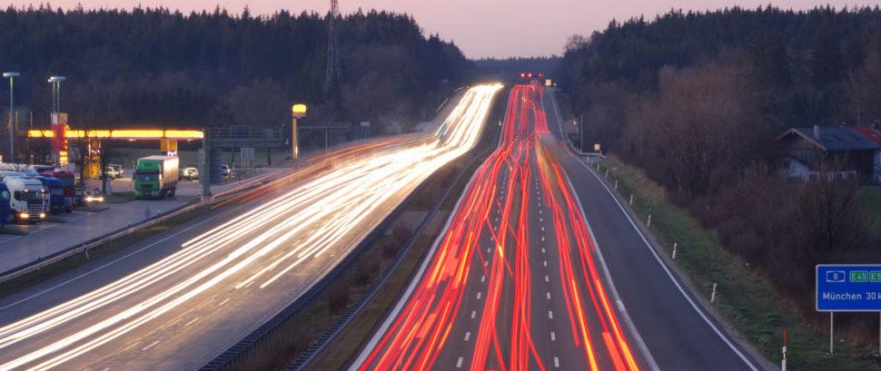 Autobahn to Munich, Germany © Manwolste | Dreamstime 2087325