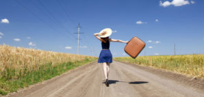 Suitcase Road © Vladimir Nikulin | Dreamstime 20064204