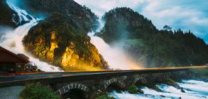 Latefossen Waterfall, Norway © Ryhor Bruyeu | Dreamstime 65986630